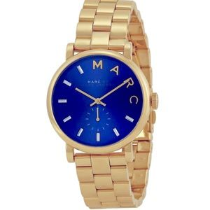 Marc by Marc Jacobs blue and gold watch